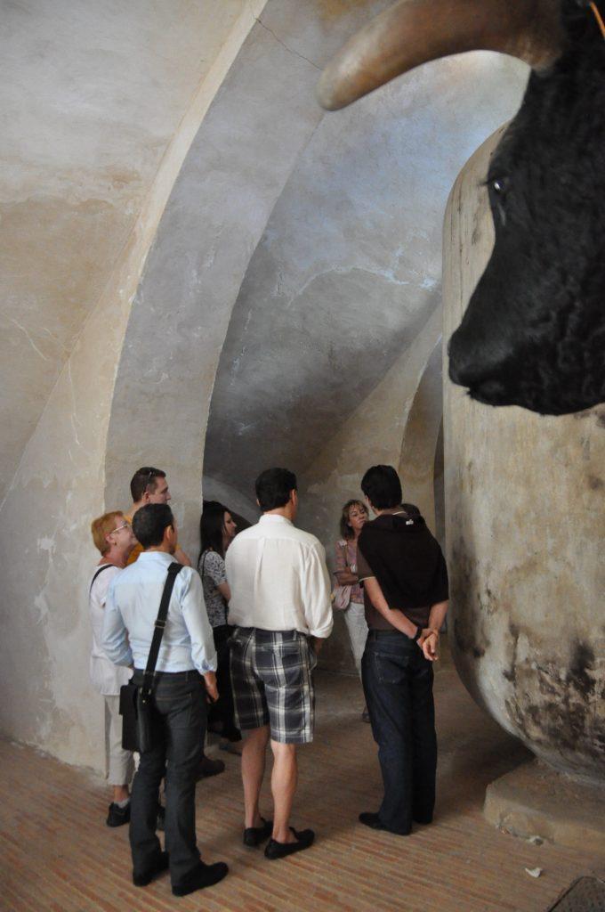 La Plaza de Toros de Almendralejo tiene bajo sus graderíos una bodega. |Foto: Almendralejo Turismo