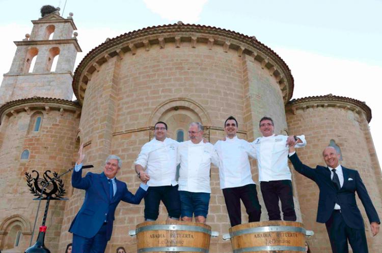 Enrique Valero, Dani García, Pedro Subijana, Marc Segarra, Andoni Luis Aduriz y Andrés Araya. | Foto: Nacho Gallego