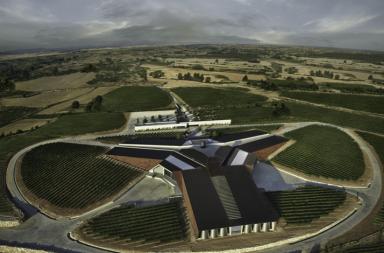 Bodegas Portia vista aerea