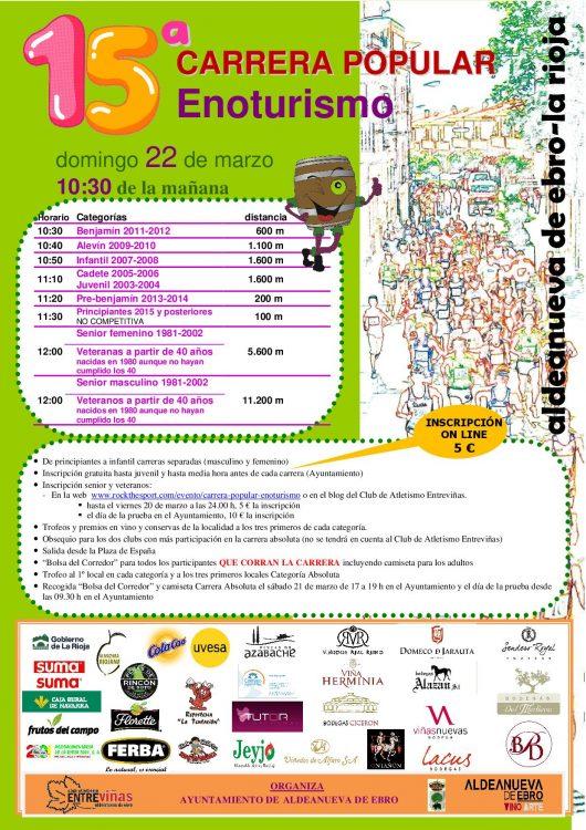 Aldeanueva del Ebro acoge la Carrera Popular del Enoturismo en Rioja Oriental